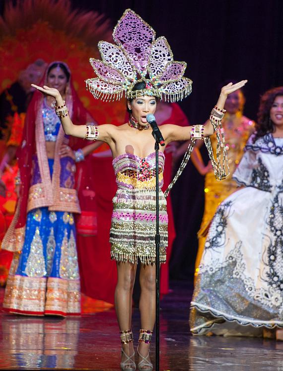 MISS Delegate Erica Valdriz during Ethnic Costume Segment