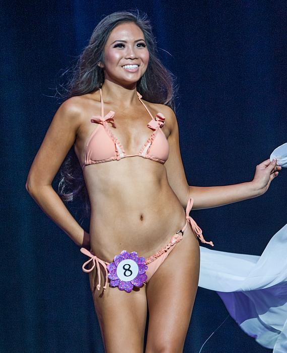 MISS Delegate Monica Fung during Swimsuit Segment