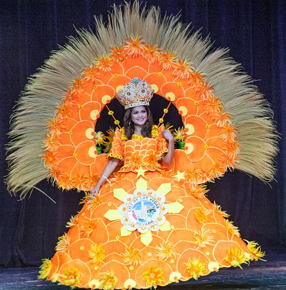 MRS. Delegate Esmeralda Gould during Ethnic Costume Segment