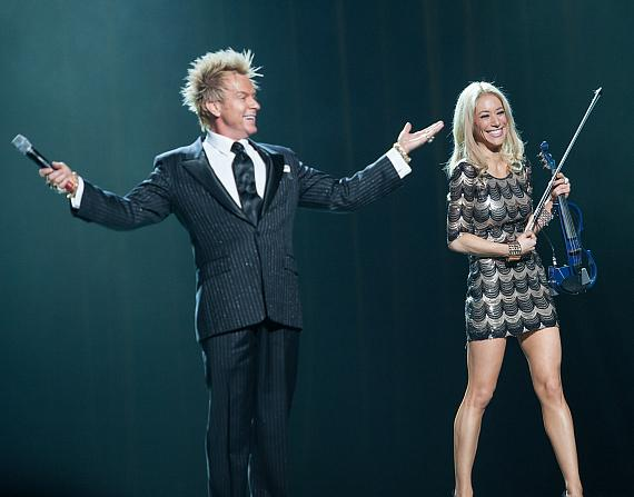 Zowie Bowie and Lydia Ansel Entertain during 2014 Miss Asian Las Vegas Pageant