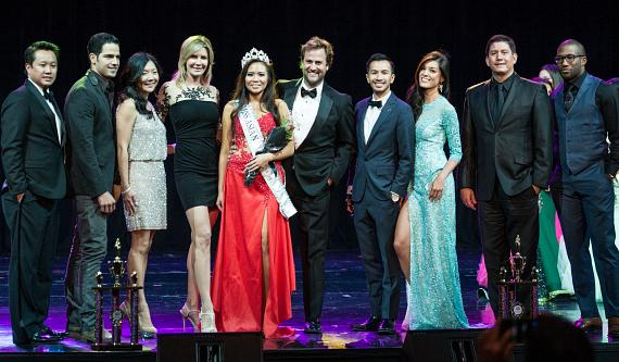 Celebrity Judges Pose with 2014 Miss Asian Las Vegas MISS Monica Fung