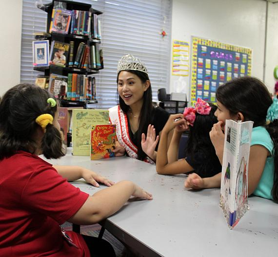 Miss Chinese Las Vegas Elisa Chan Reads to Boys & Girls Clubs of Southern Nevada