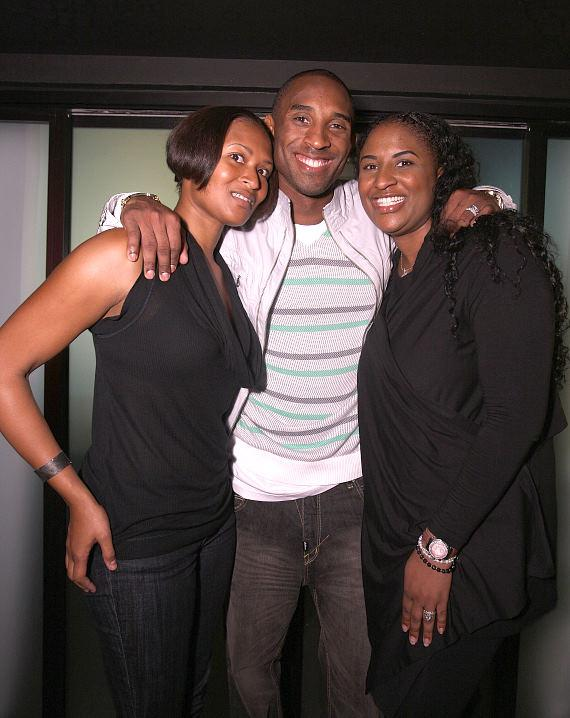 Kobe Bryant and sisters at LAX Nightclub