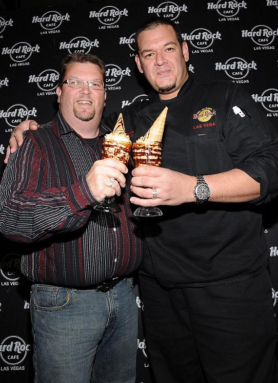 John Fogal, Director of Development for the Las Vegas Rescue Mission and Hard Rock Cafe Chef Aaron Moran
