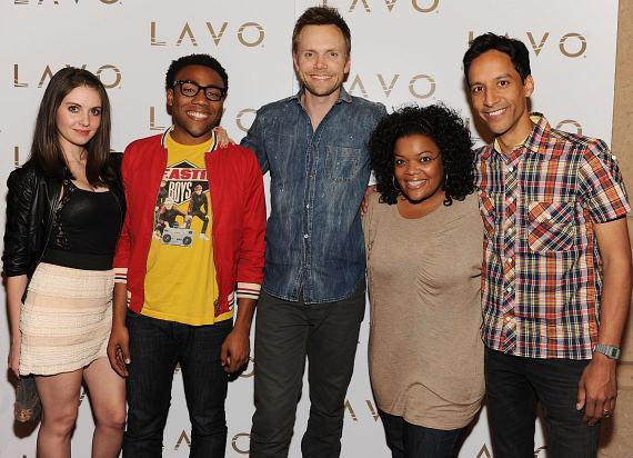 Allison Brie, Donald Glover, Joel McHale, Yvette Nicole Brown and Danny Pudi