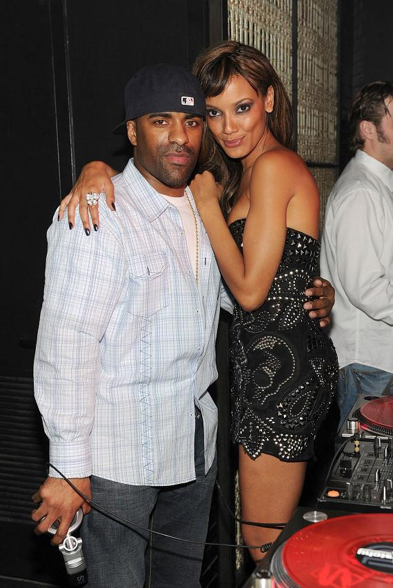 DJ Clue with Selita Ebanks in LAVO