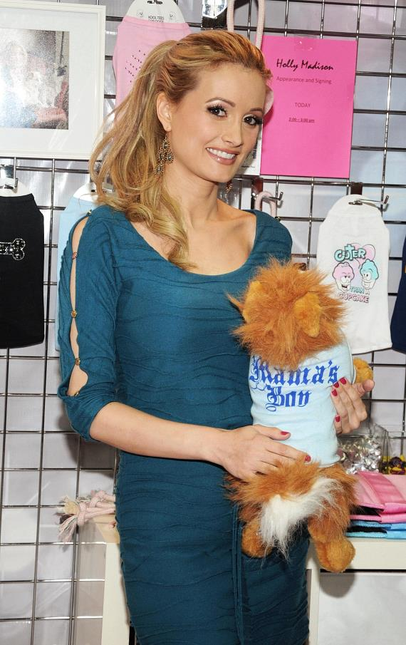 Holly Madison show her products at SuperZoo 2012 Convention at Mandalay Bay