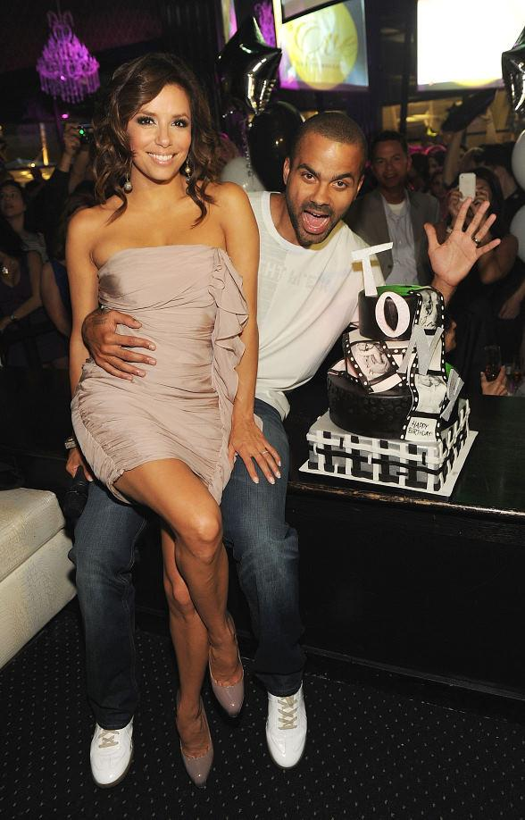 Eva Longoria Parker and husband Tony Parker at Eve Nightclub in Las Vegas