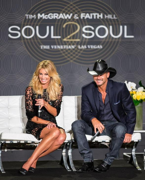 """Country Music Superstars Faith Hill and Tim McGraw Bring All-New """"Soul2Soul"""" to The Venetian Las Vegas"""