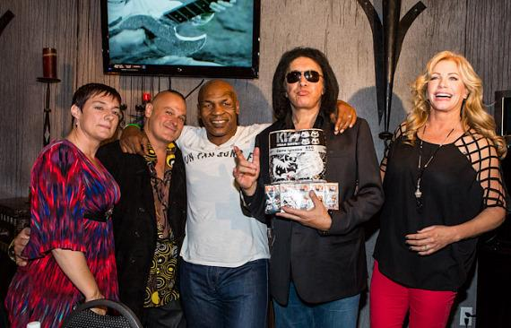 Christina Vitagliano, Patrick Vitagliano, Mike Tyson, Gene Simmons and Shannon Tweed
