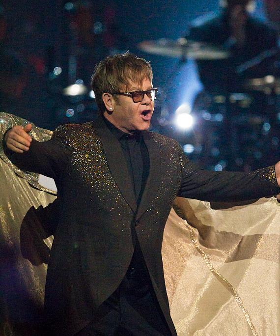 Elton John performs at Caesars Palace in Las Vegas