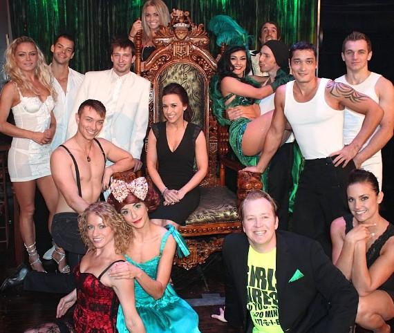 Lacey Chabert with cast of ABSINTHE