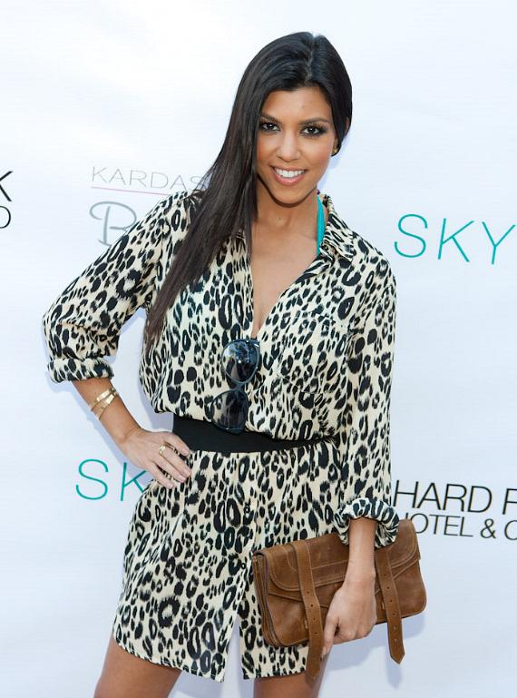 Kourtney Kardashian arrives at HRH Beach Club