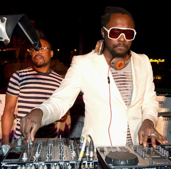 will.i.am DJs at Moorea Beach Club at Mandalay Bay