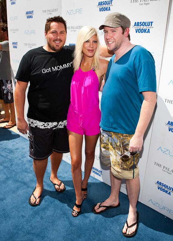 Bill Horn, Tori Spelling and Scout Masterson