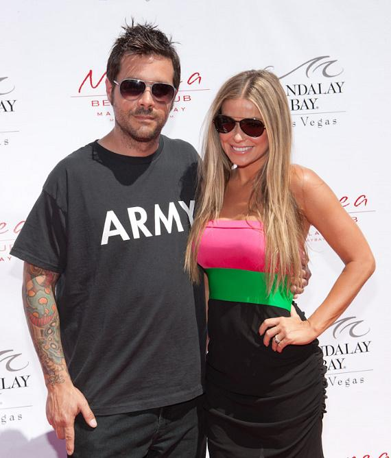 Rob Patterson and Carmen Electra at Moorea Beach Club