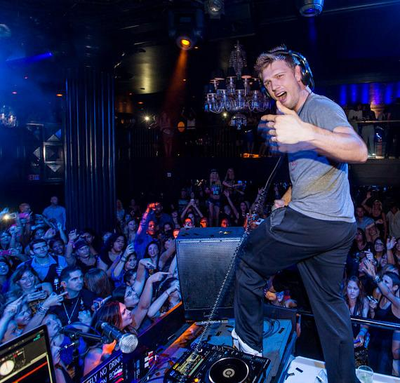 Nick Carter performs at Backstreet Boys Official Concert After Party at Body English