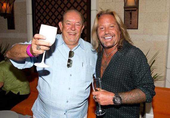 Robin Leach and Vince Neil at Surrender Nightclub
