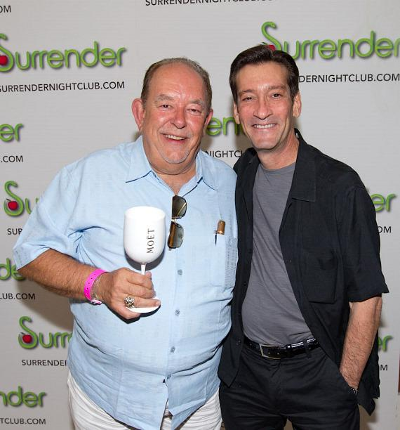 "Robin Leach with George Lyons of ""The Lyons Den"" on KUNV Radio in Las Vegas"