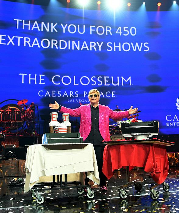Sir Elton John Takes Final Bow at Caesars Palace in Las Vegas