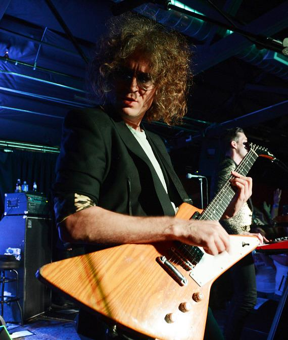 Guitarist Dave Keuning of The Killers performs at Bunkhouse