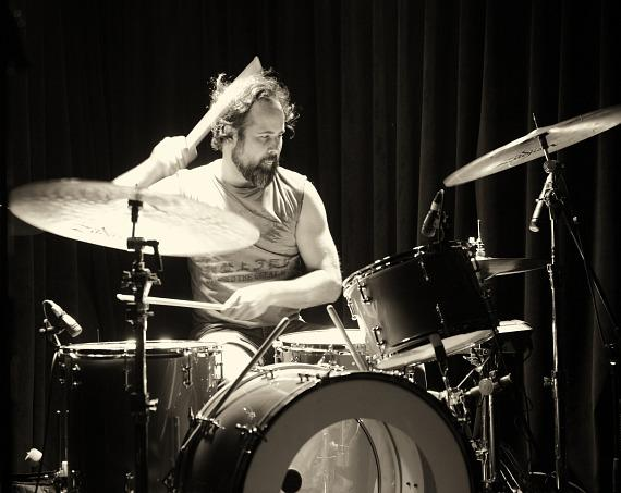 Drummer Ronnie Vannucci Jr. of the Killers performs at Bunkhouse