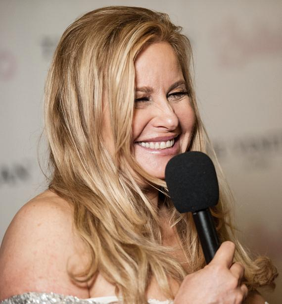 "Jennifer Coolidge performs in ""Lipshtick - The Perfect Shade of Stand Up"" at The Venetian Las Vegas"