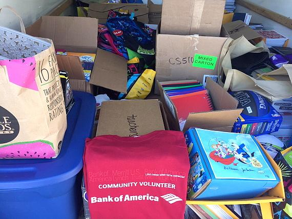 Bank of America Hand-Delivers 10,000 School Supplies to Students in Need