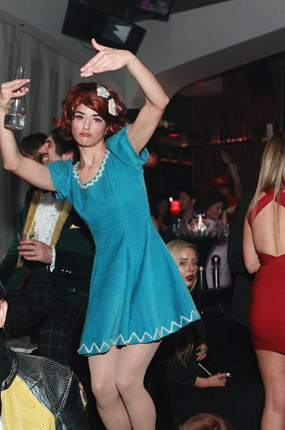 ABSINTHE's Penny Pibbets dances at Hyde