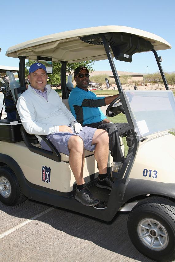 ACM Board Darin Murphy and Darius Rucker at ACM Lifting Lives Golf Classic