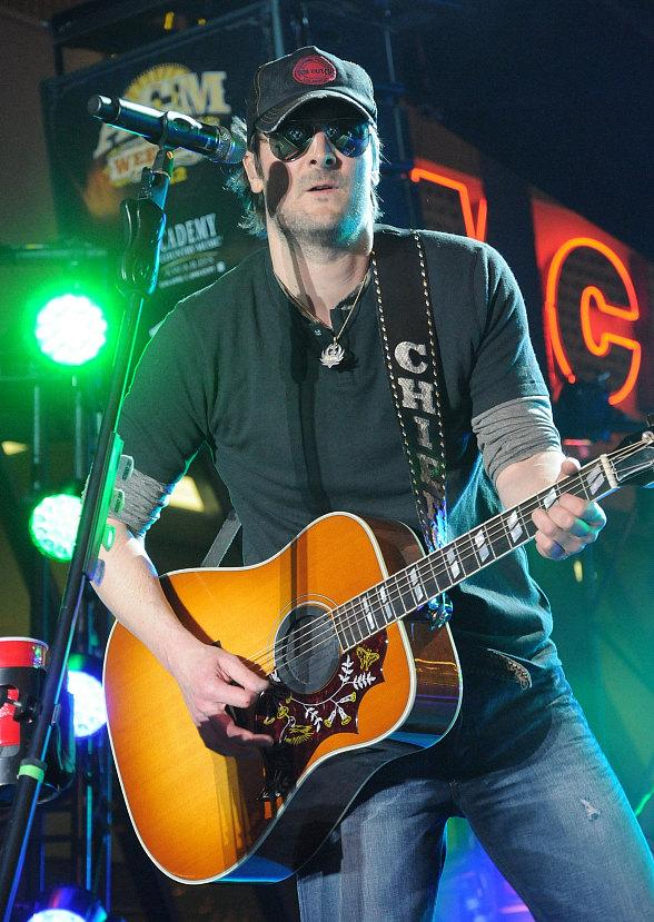 Country star Eric Church performs at Fremont Street Experience in Las Vegas