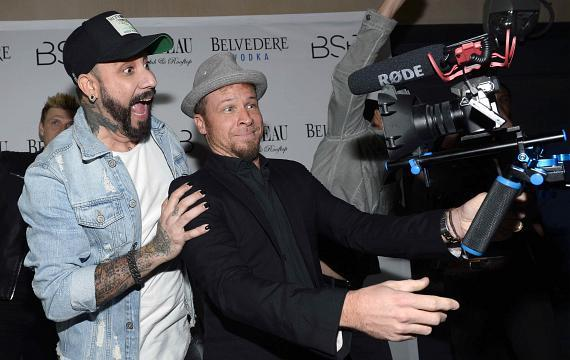 AJ McLean and Brian Littrell with Camera