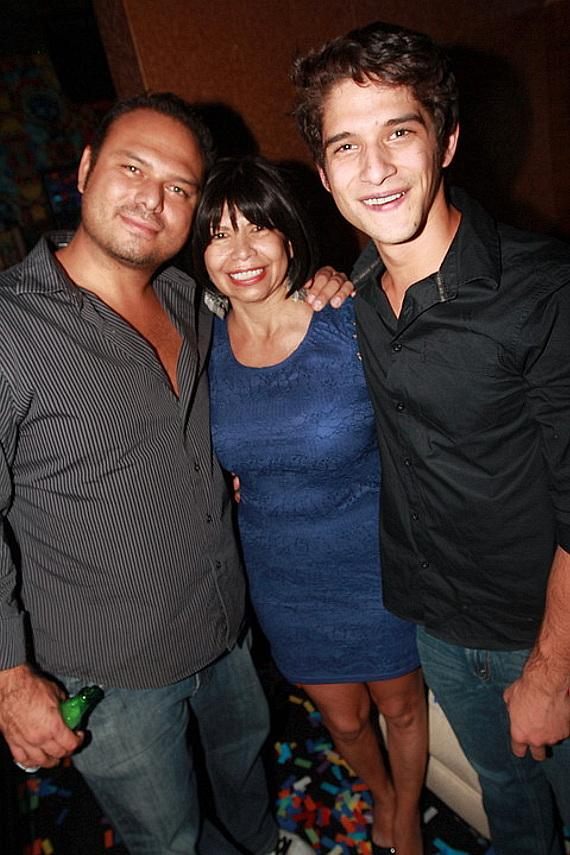 Actor Tyler Posey makes it a family affair for his 21st birthday. He celebrated with his mother and brother.