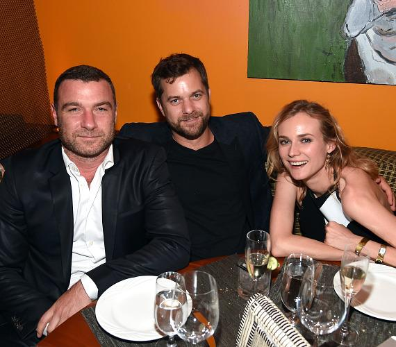 Actors Liev Schreiber, Joshua Jackson and Diane Kruger at SHOWTIME VIP Post-Fight Dinner for Mayweather VS Pacquiao