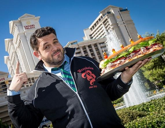 Adam Richman in front of Caesars Palace, home of the 2012 WFC Final Table that takes place Sunday, Nov. 4