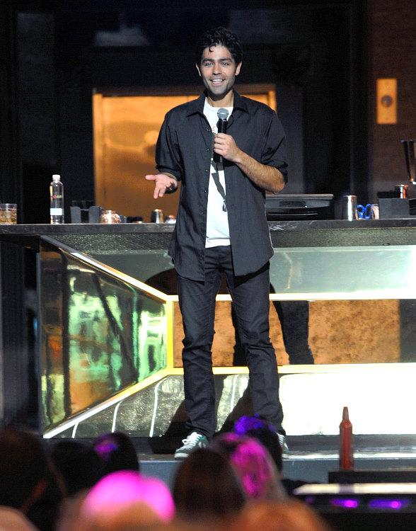 Adrian Grenier talks to film enthusiasts at Chateau Nightclub & Gardens at Paris Las Vegas