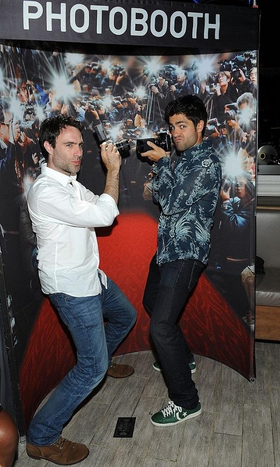 Adrian Grenier posing with executive producer, Matthew Cook
