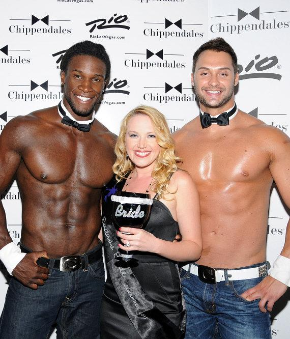 Adrienne Frantz celebrates Bachelorette Party at Chippendales