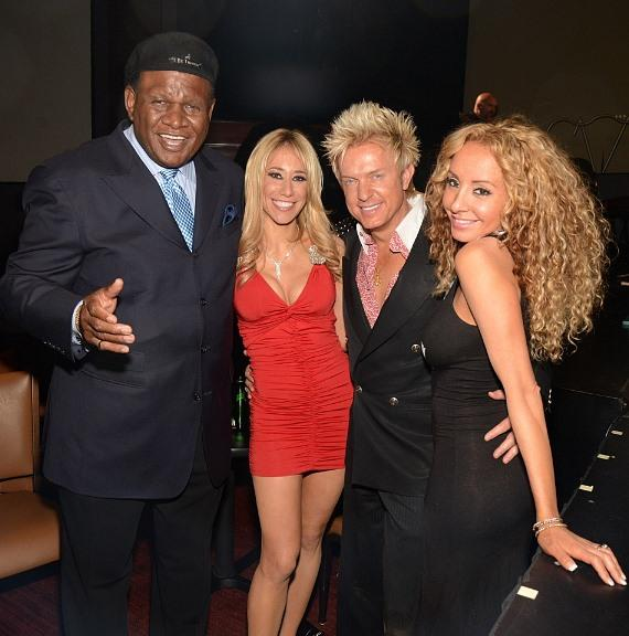 George Wallace, Lydia Ansel, Chris Phillips and Lorena Peril