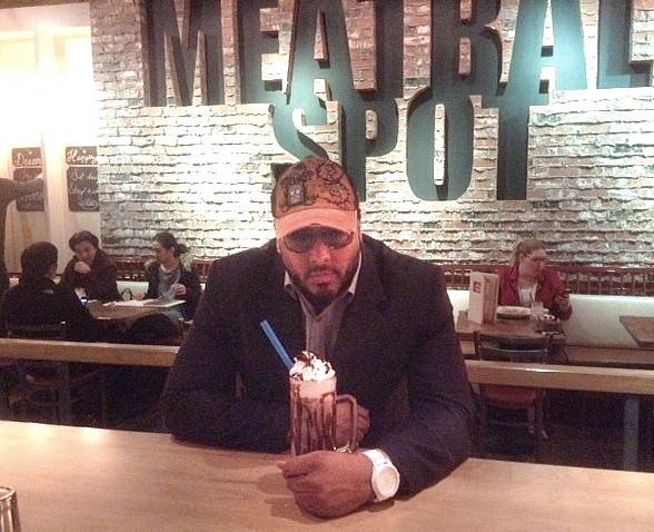 Singer Al. B Sure Dines at Meatball Spot at Town Square