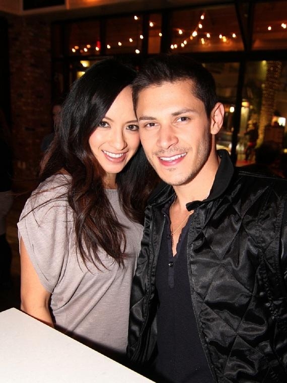 Alex Meraz with wife, Kim Meraz, at Meatball Spot