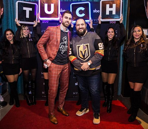 """Alex Tuch and Wayne """"Big D"""" Danielson at Hyde Lounge at T-Mobile Arena"""