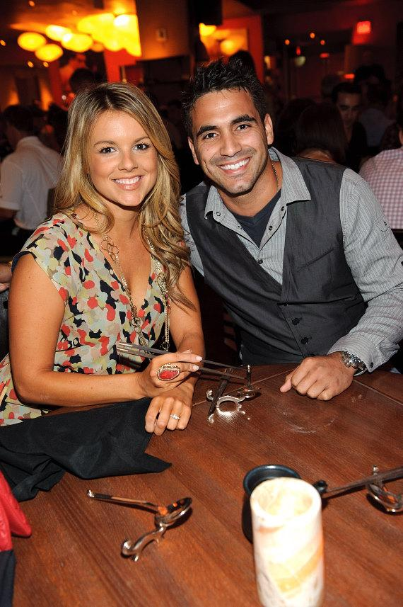 Ali Fedotowsky and Roberto Martinez at TAO