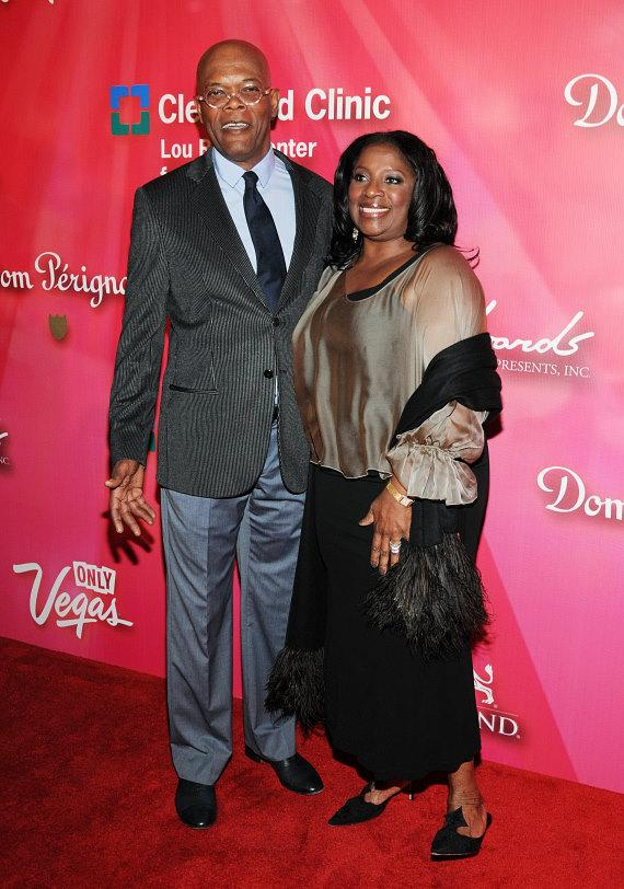 Samuel L. Jacksonand his wife La Tanya Richardson Jackson