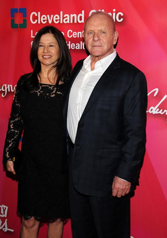 Sir Anthony Hopkins with his wife Stella Arroyave