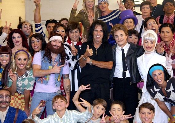 Alice Cooper and cast of The Beatles LOVE by Cirque du Soleil