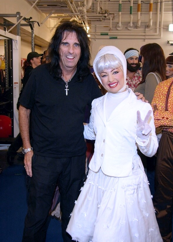 Alice Cooper with LOVE nurse