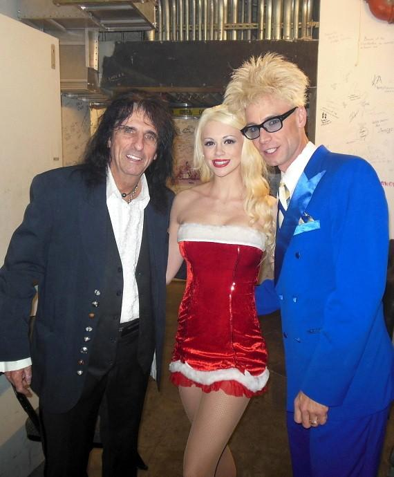 Alice Cooper backstage with Chloe Crawford and Murray Sawchuck