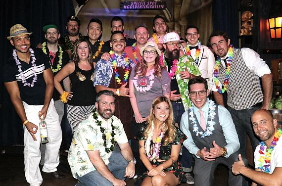 All judges and competitors at The Golden Tiki