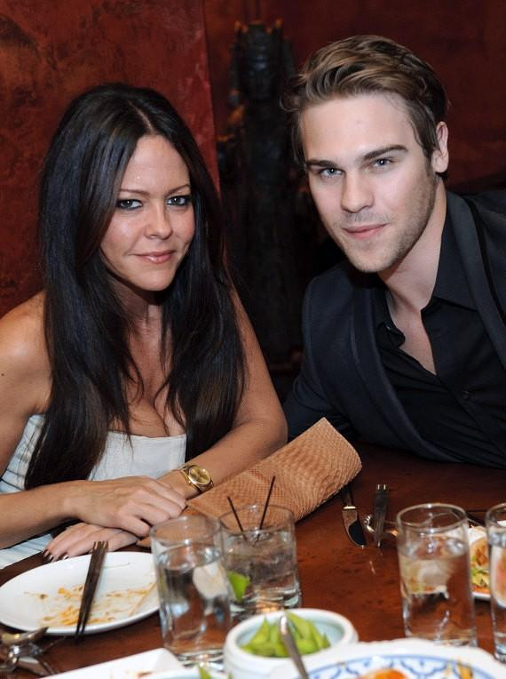 Allison Melnick and Grey Damon at TAO